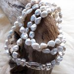 Keshi-Perlenkette geknüpft, zweireihig, 50cm, CHF 140.00